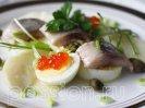 Пасхальный салат с икрой
